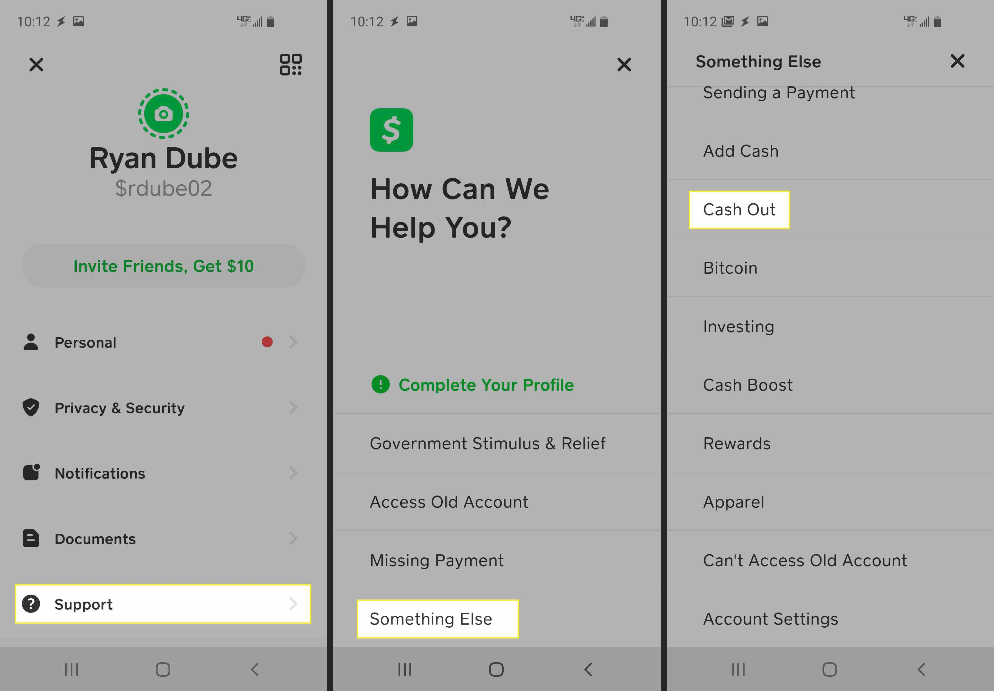More steps in getting all your money out of the Cash App.
