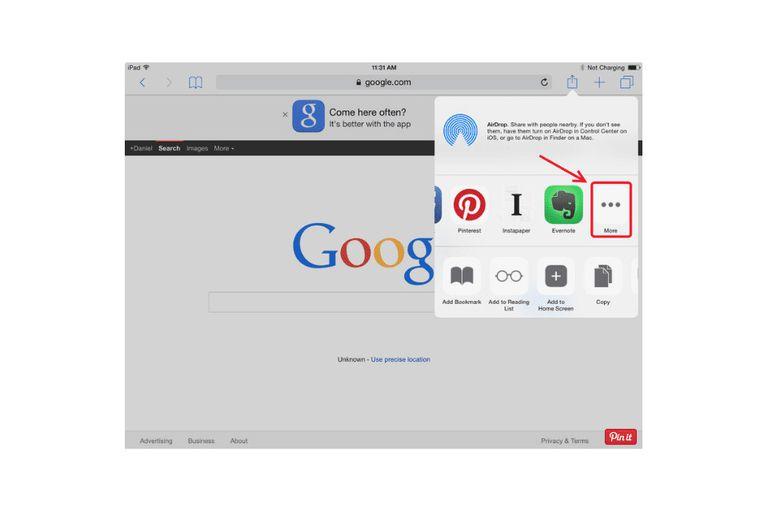 Add Widgets to the Safari Browser screenshot