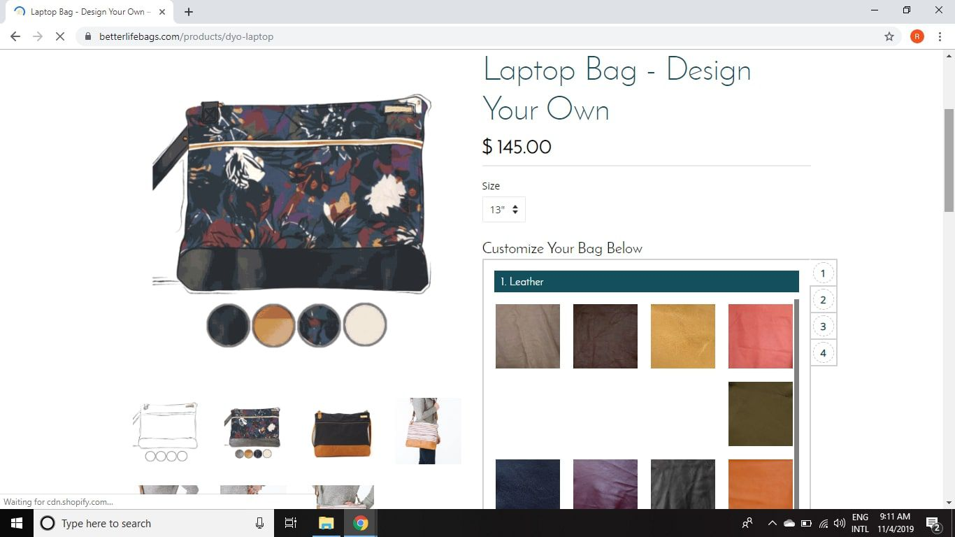DYO Laptop Bags From Better Life Bags