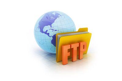 FTP initials, file folder, globe