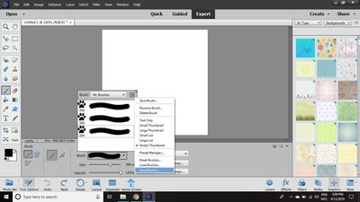 Custom Brushes in Photoshop Elements