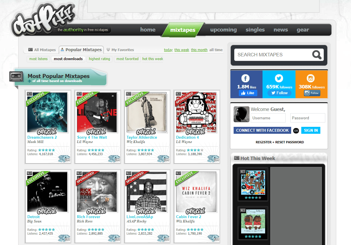 DatPiff most downloaded music