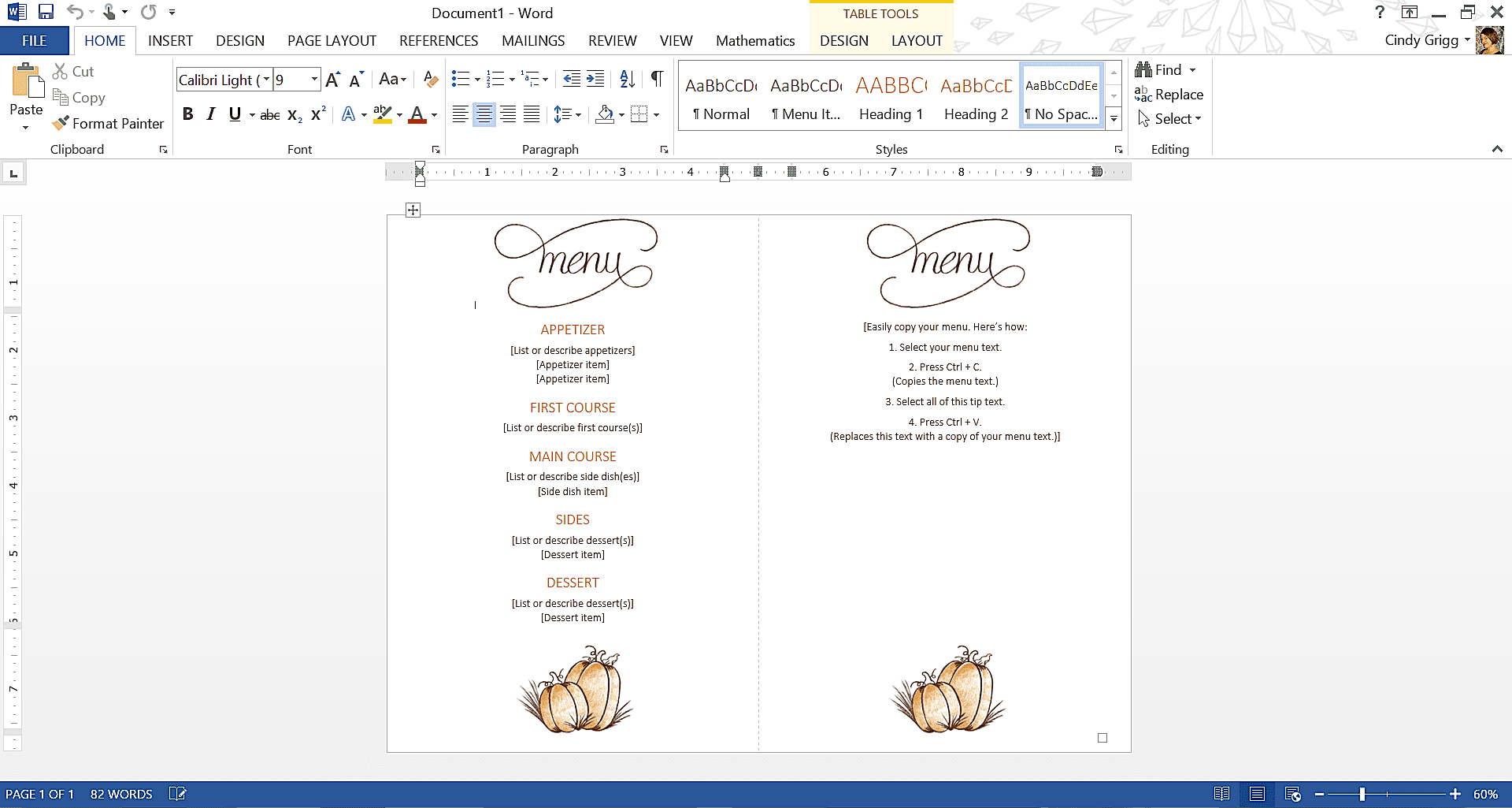 Best free thanksgiving templates for microsoft word classic thanksgiving menu template maxwellsz
