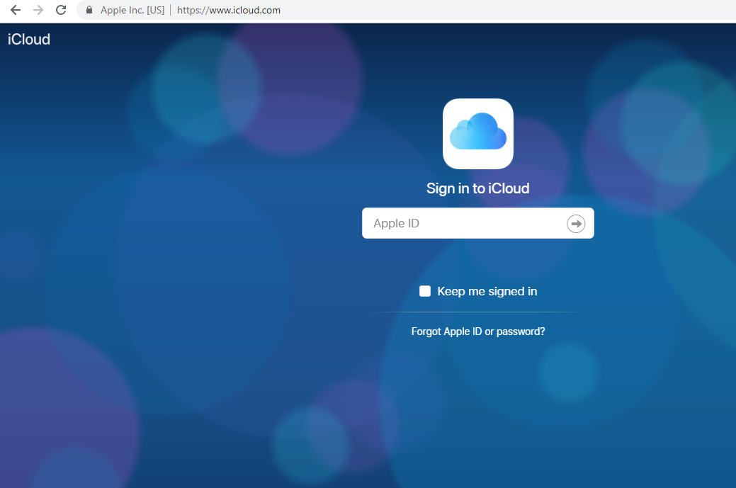 icloud Login Process through Google Chrome