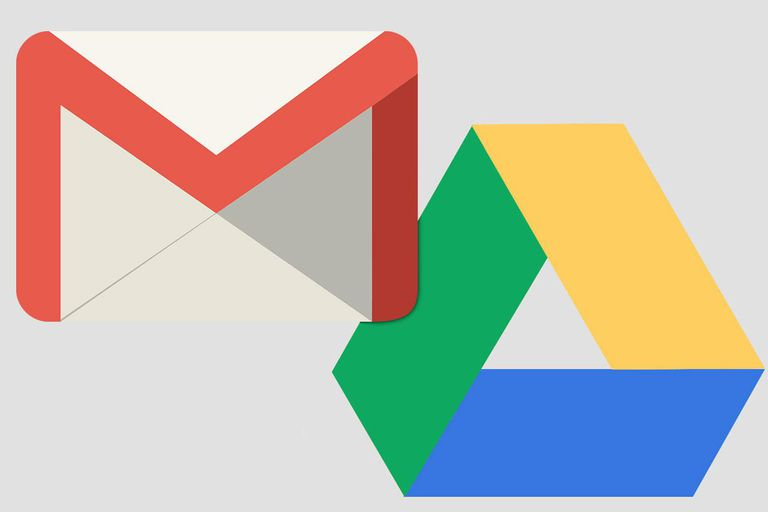 The Gmail and Google Drive icon logos