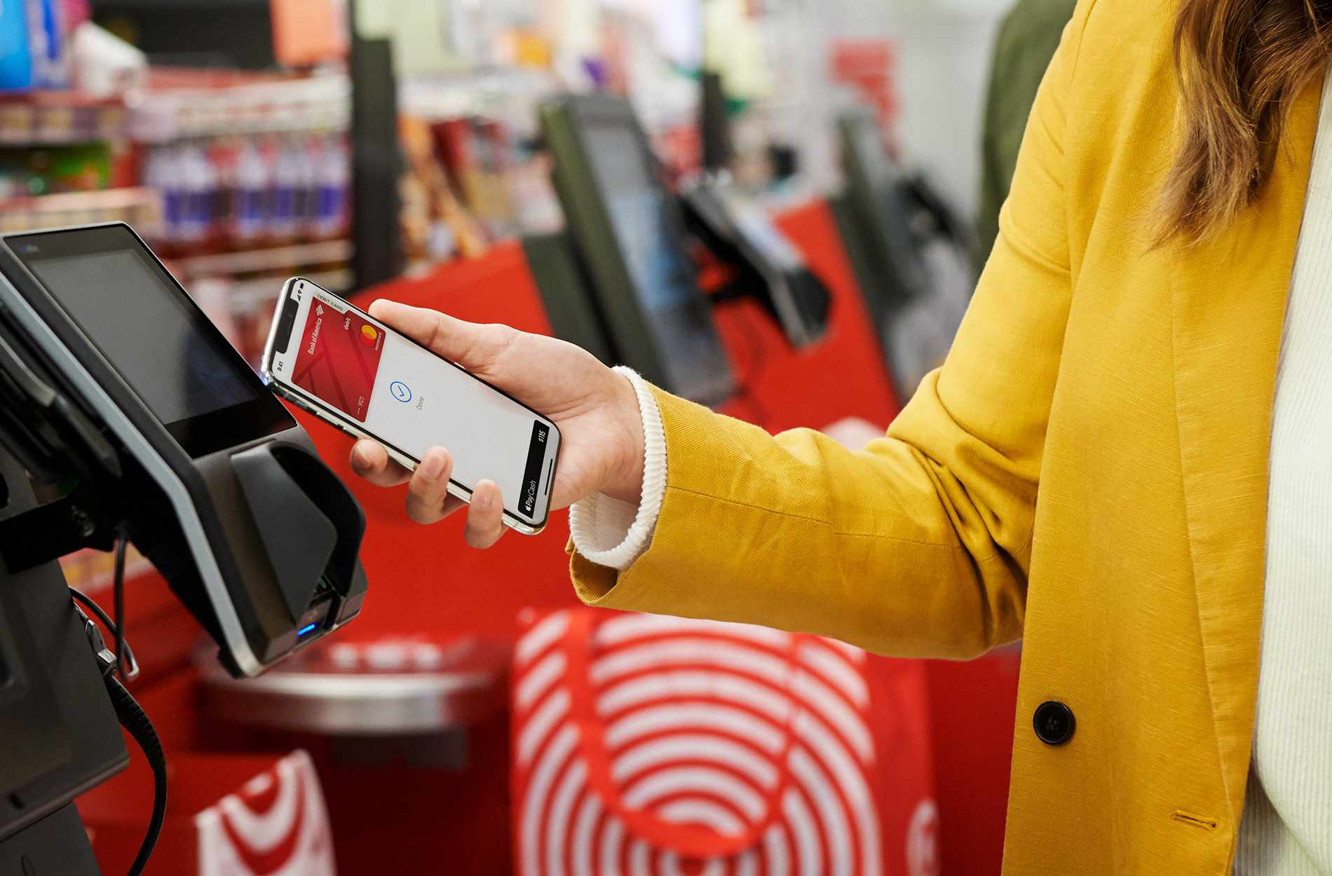 Shopper using Apple Pay at Target