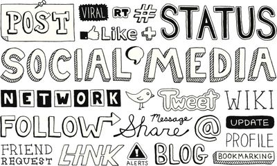 Social media splash words