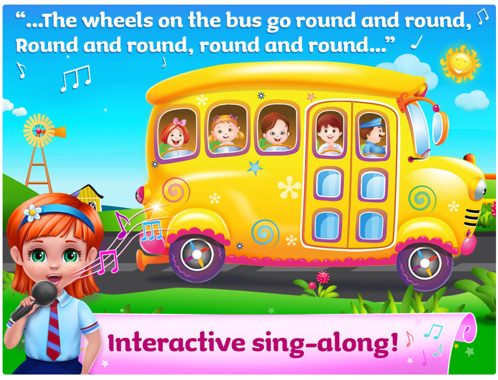 The wheels on the bus app
