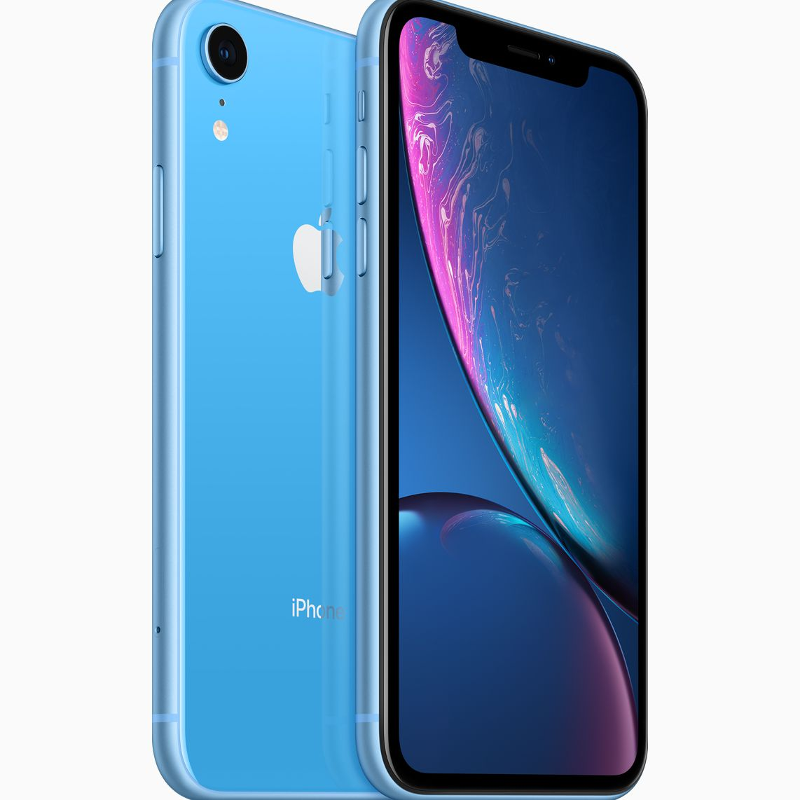 The blue-backed iPhone XR