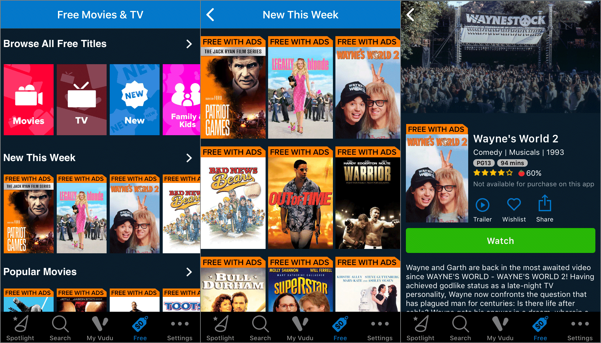 best free app for ipad to watch movies
