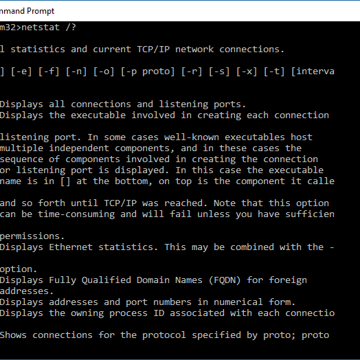 How to Use the Netstat Command