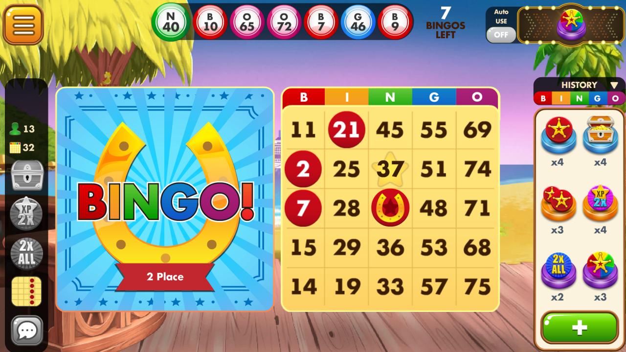 Screenshot of playing Bingo Country Games