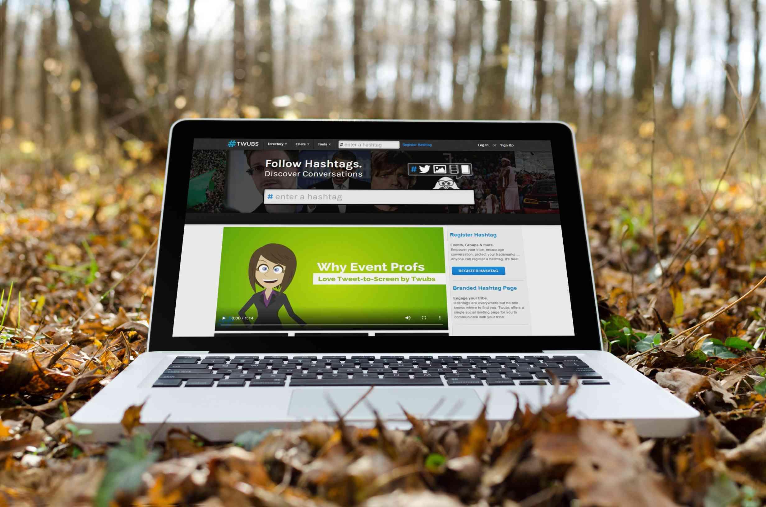 Twubs website on MacBook
