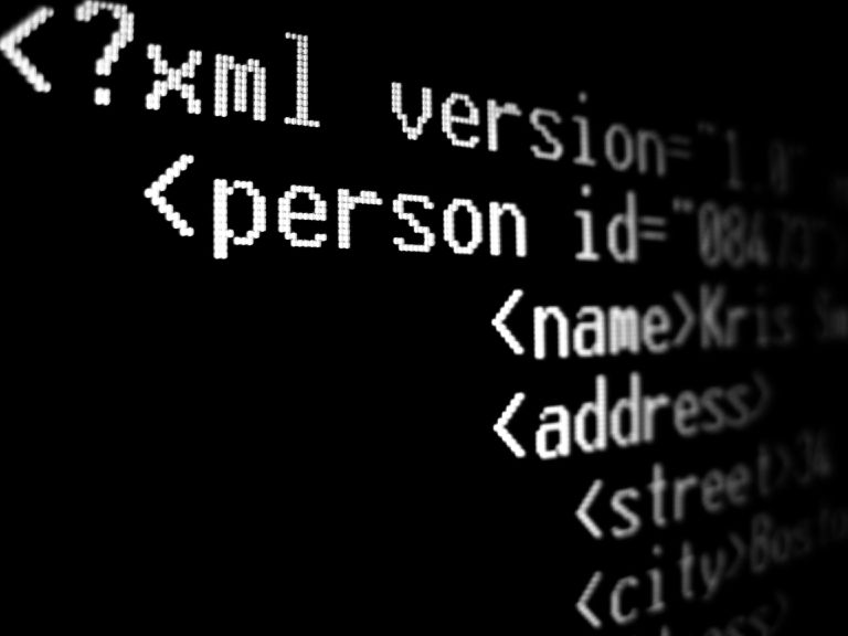 XML document code
