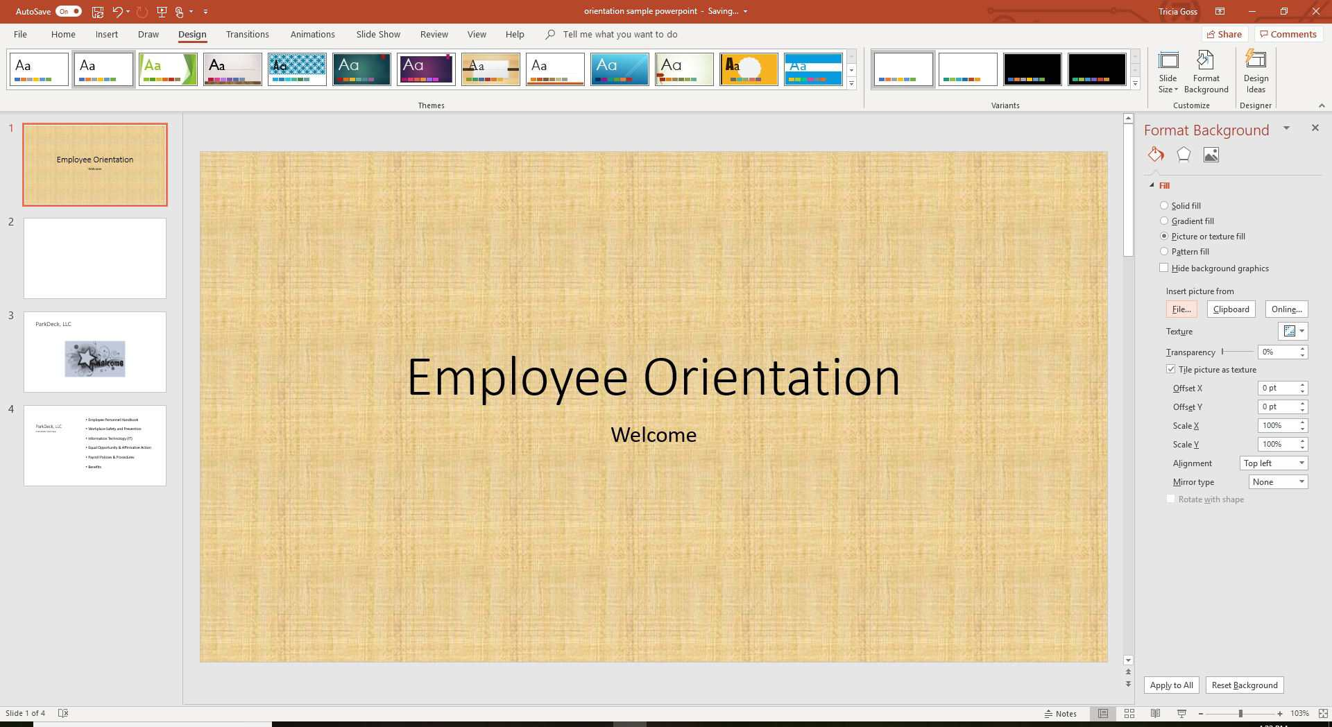 A screenshot showing how to choose an option for Insert Picture From in PowerPoint