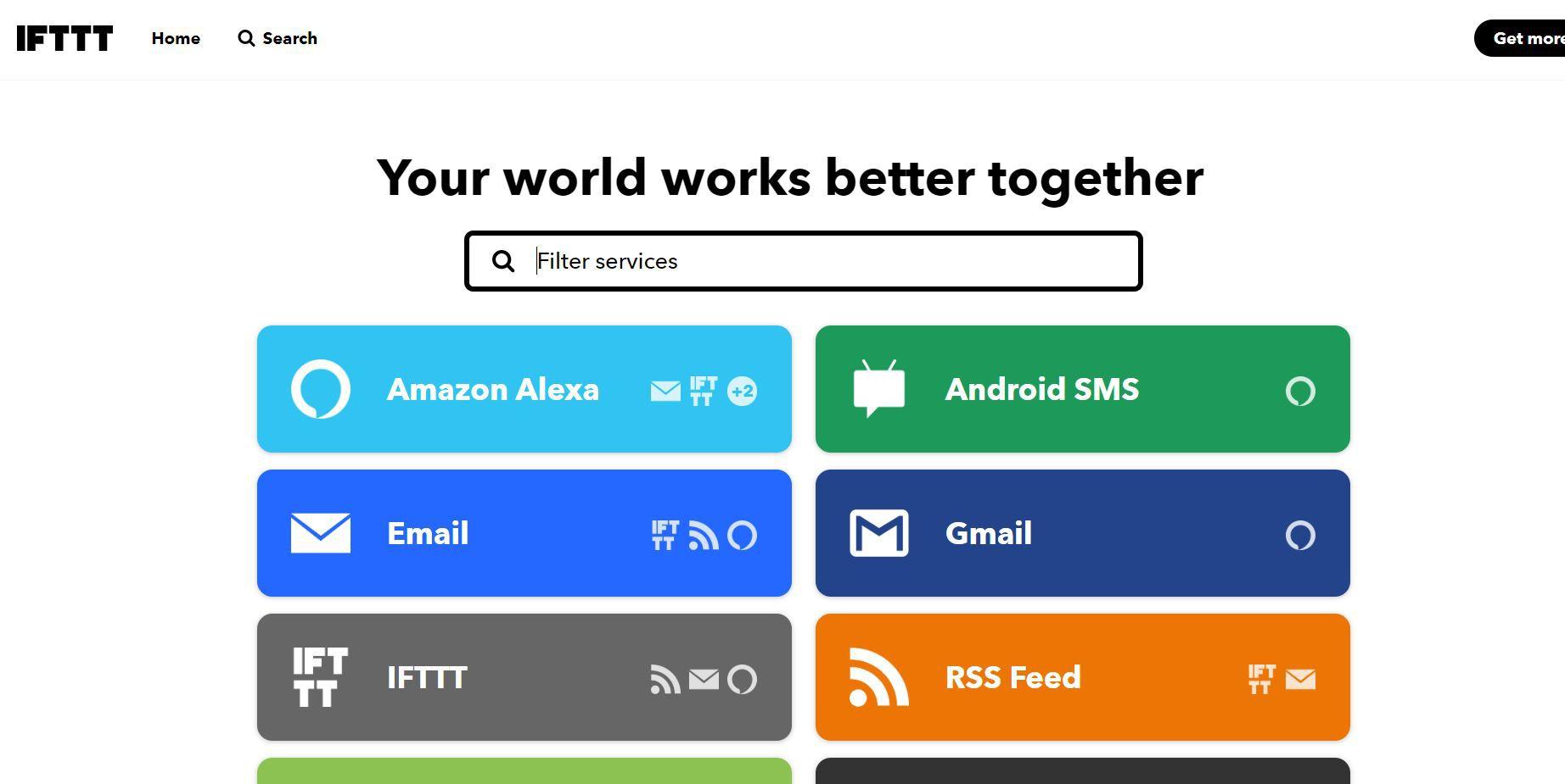 IFTTT website