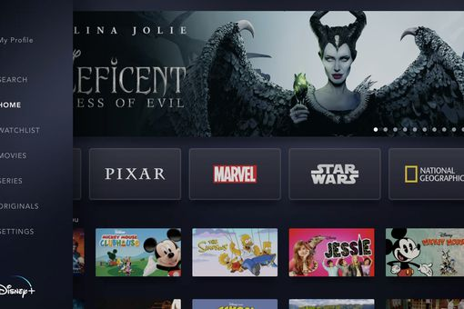 Screenshot of Disney+ on Apple TV