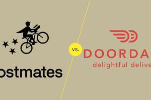 Postmates vs Doordash illustration
