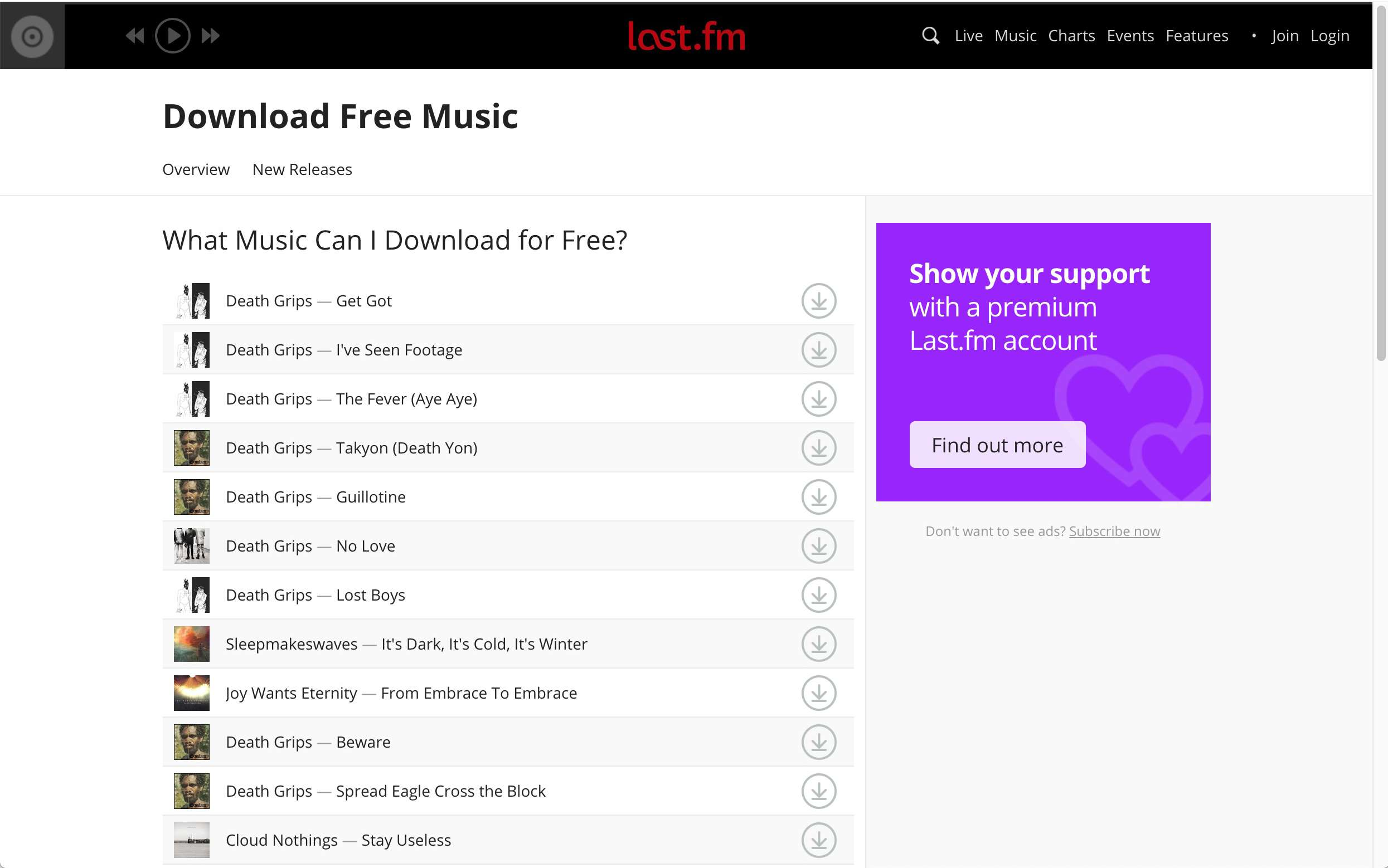 good place to download music free