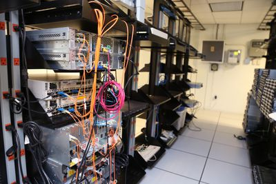 Network Cables in Server Room