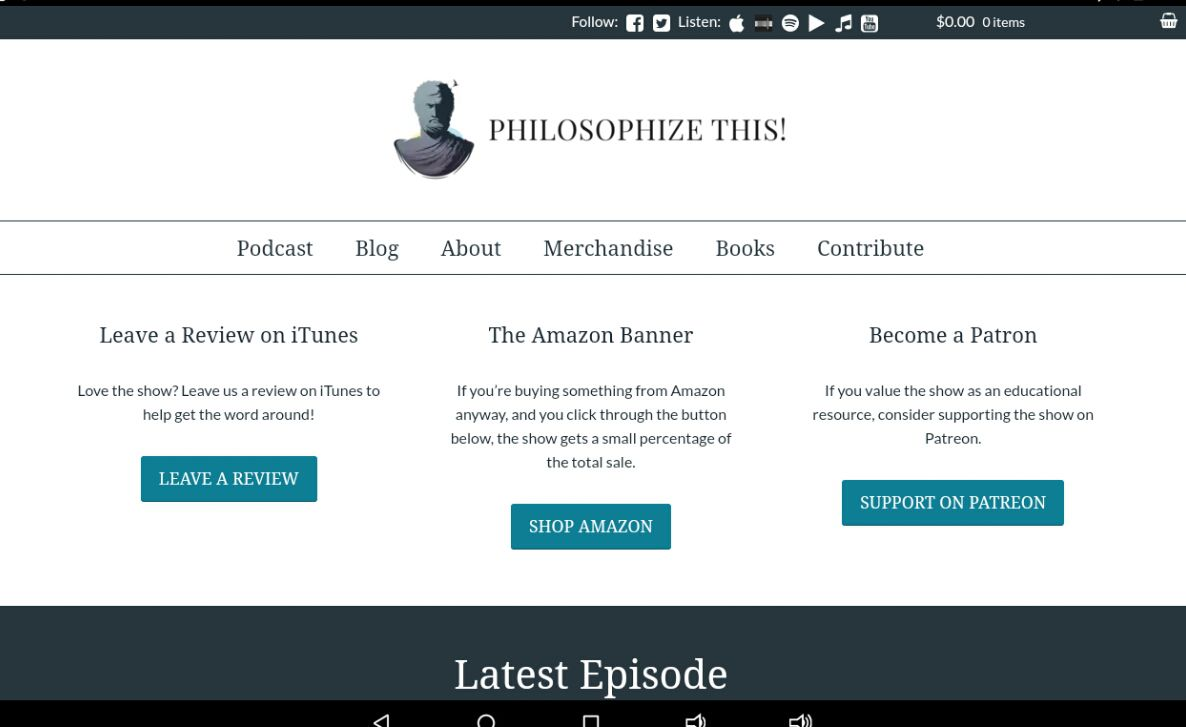 Philosophize This! podcast