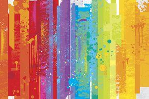 Grunge rainbow background