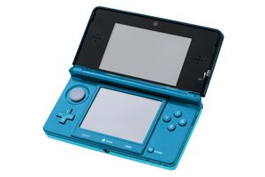 A Nintendo 3DS in Aqua Blue