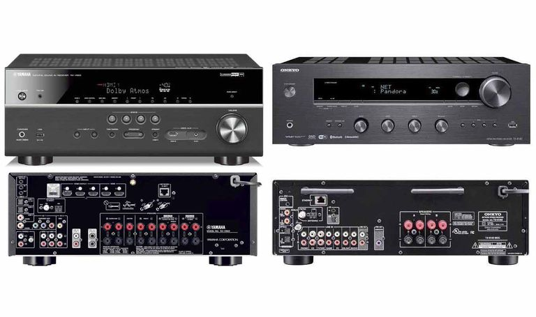 Yamaha RX-V683 Home Theater Receiver and Onkyo TX-8140 Stereo Receiver