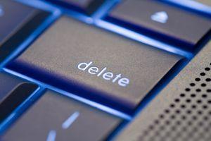 Close up of a delete key