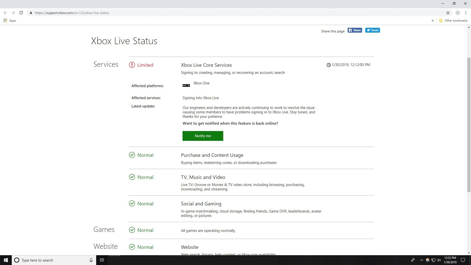 Xbox alert status  Microsoft Issues Xbox Live for Xbox 360