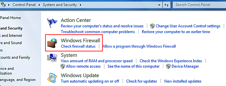 how to turn off windows firewall remotely in windows 7