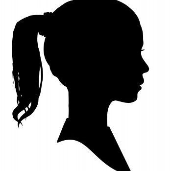 Girl's Profile Silhouette