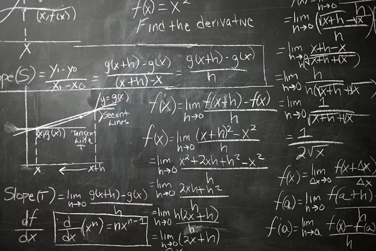 Math on a blackboard
