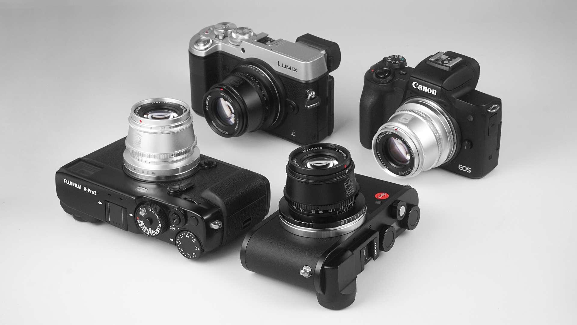 TTArtisan APS-C 35mm F1.4 lens on various camera models