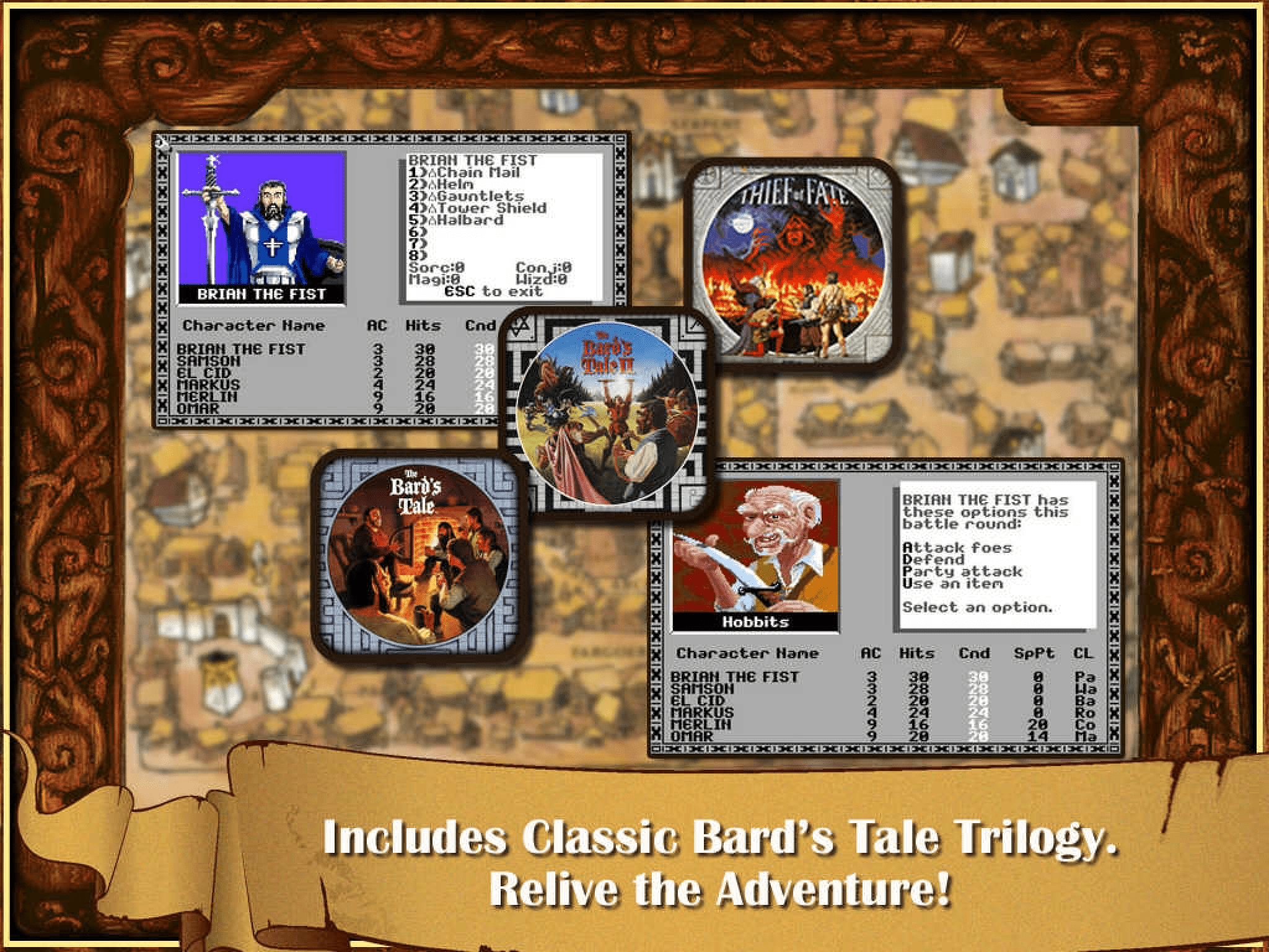 The Bard's Tale character descriptions from the game