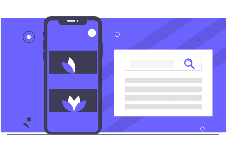 Mobile search illustration