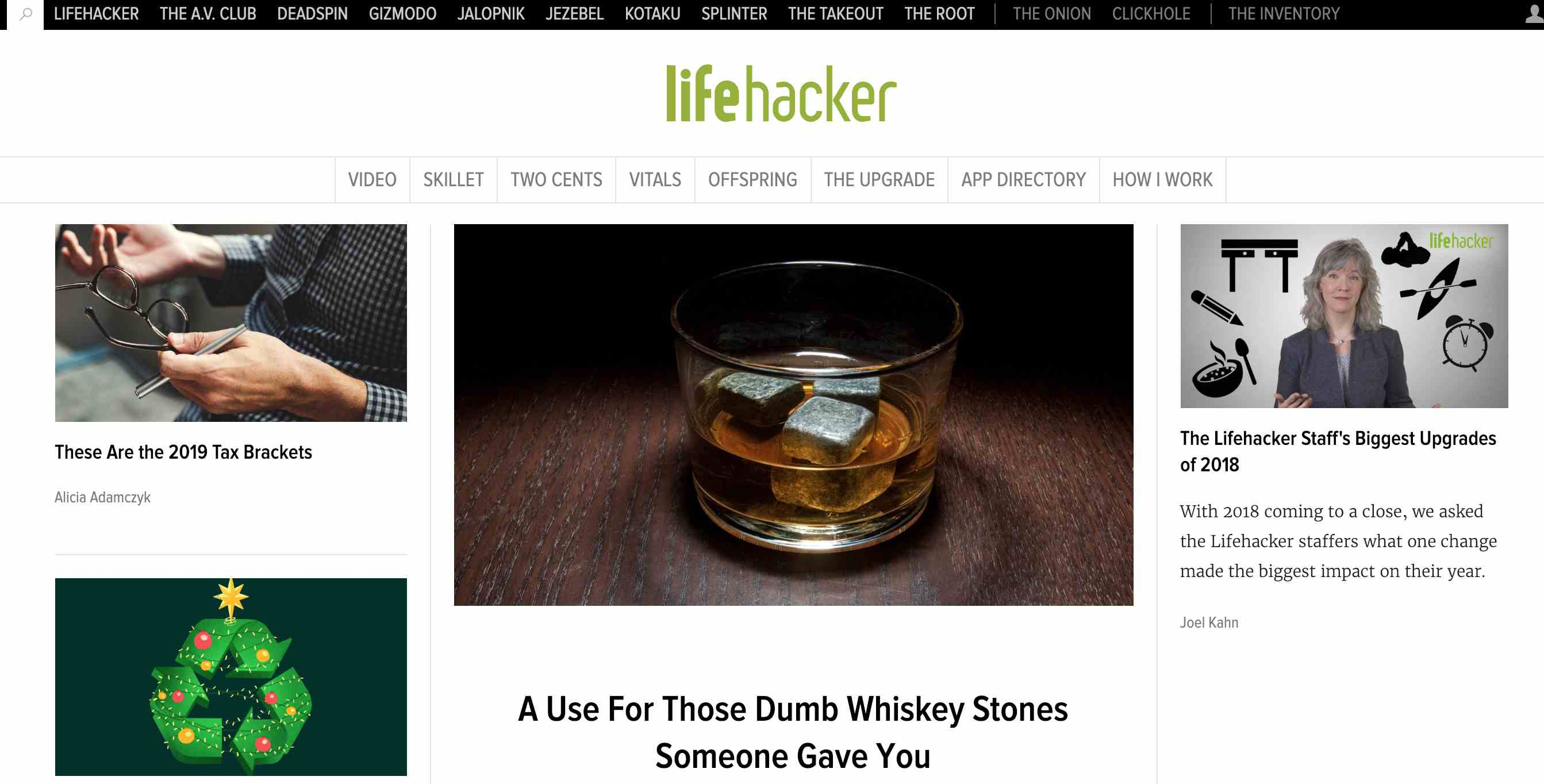 Lifehacker home page