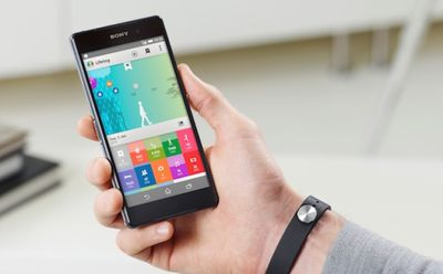 Person holding a Sony Xperia phone