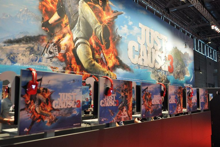 Just Cause 3 promotional display