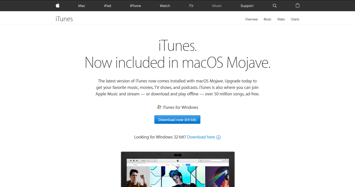 Where to Download iTunes for 64-Bit Windows