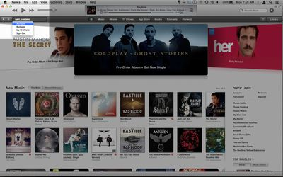 iTunes Home page screenshot