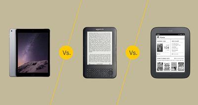 iPad vs. Kindle vs. Nook