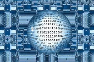 Image of computer memory and binary code