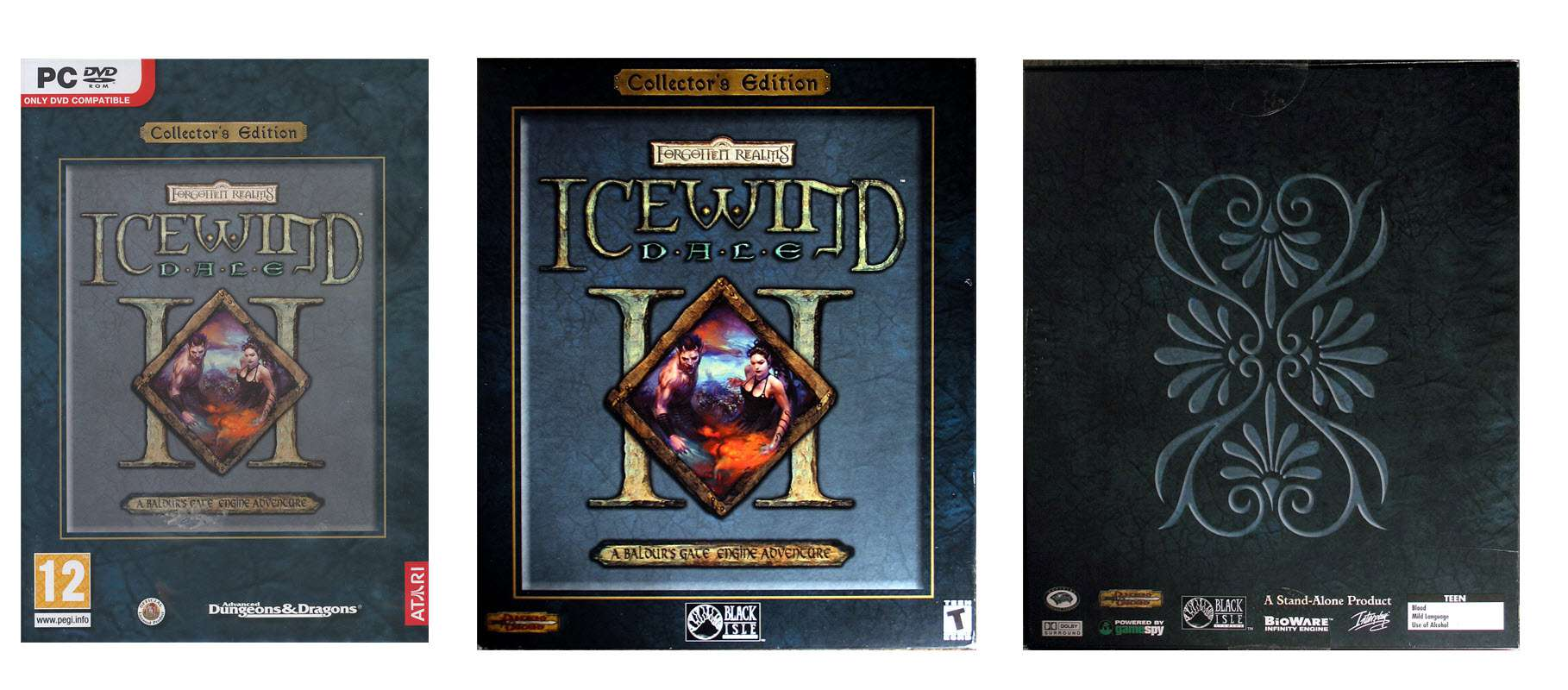 Icewind Dale II Collector's Edition - European Box and US Box (front & back)