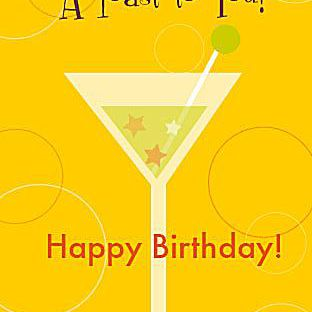 Happy Birthday Card Martini To You Ysseglobal Org