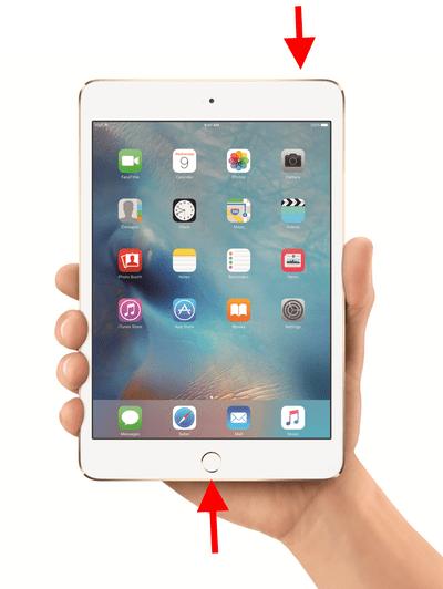How to take an iPad screenshot