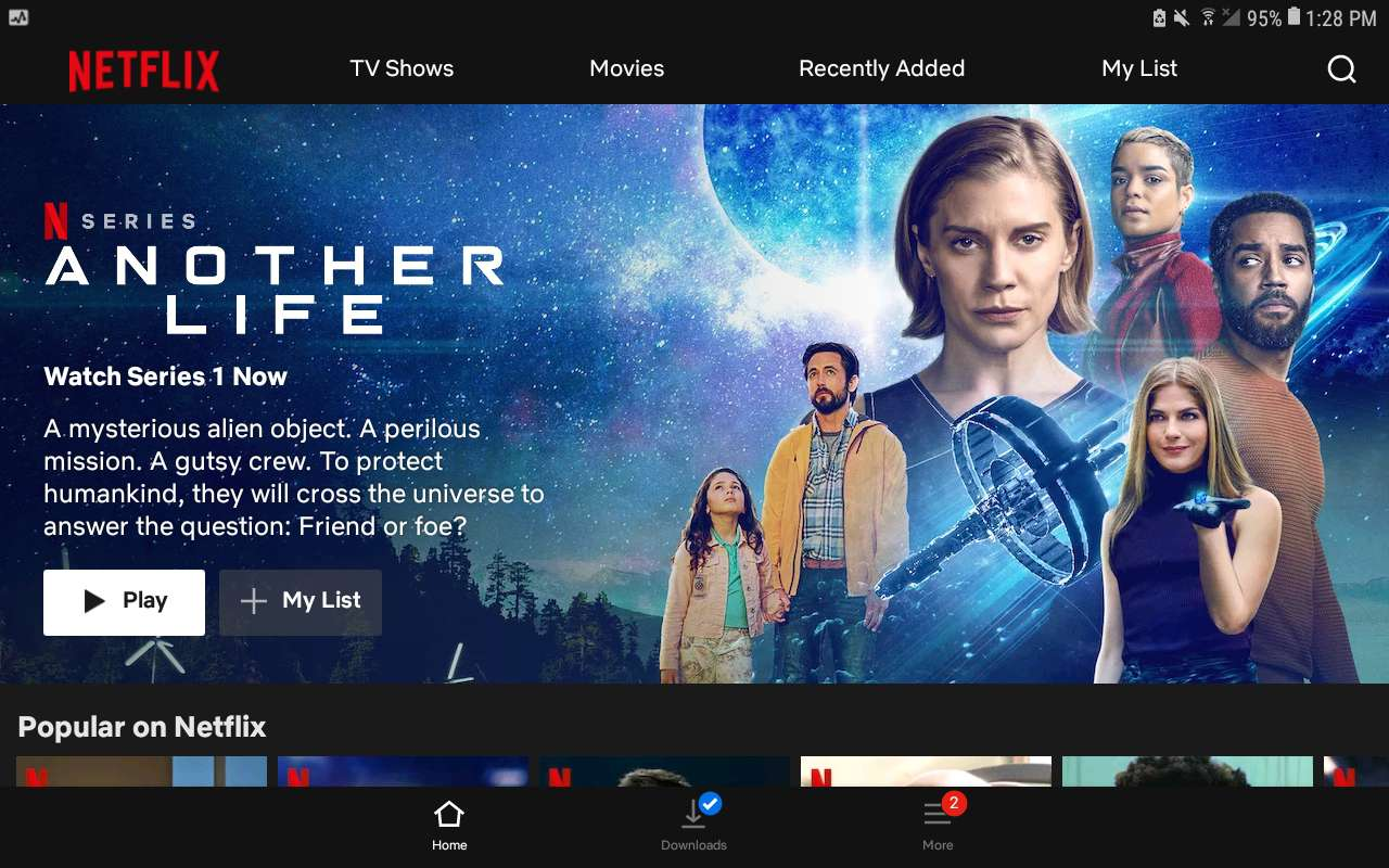 Netflix app for Android