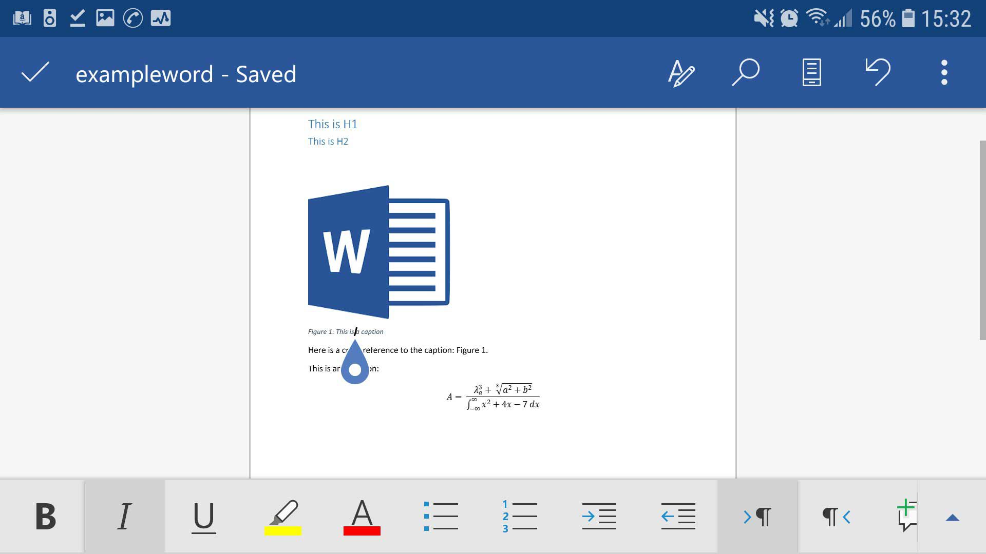Word for Android screenshot