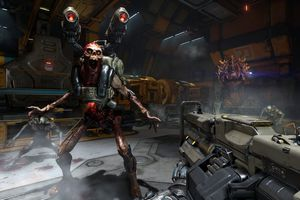 Picture of 2016 Doom game play