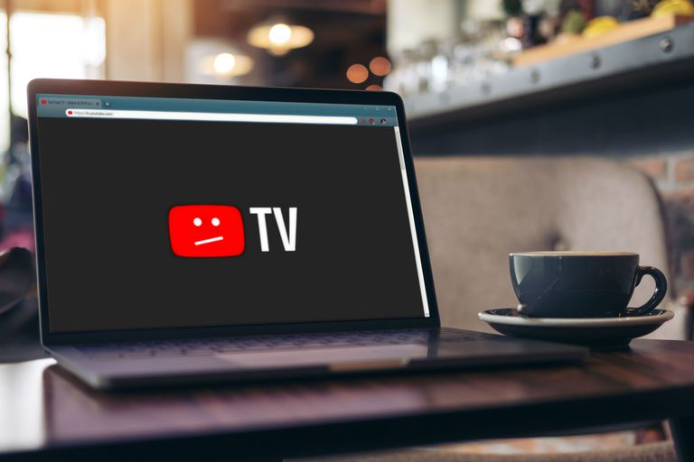 YouTube TV down on a laptop.